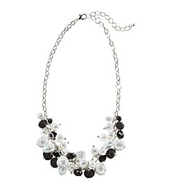 Studio Works® Black Bead and Pearl Shaky Necklace