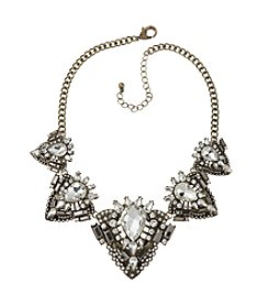 Relativity® Goldtone Simulated Crystal Frontal Necklace