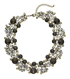 Relativity® Black Diamond Goldtone Collar Necklace