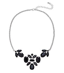 Studio Works® Black Faceted Frontal Necklace
