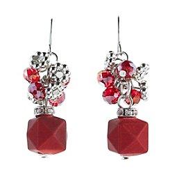 Studio Works® Red Beaded Cluster Earrings