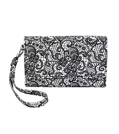 Relativity Lace Print Midi Cell Wallet