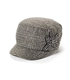 Relativity® Plaid Embroidered Cadet Hat