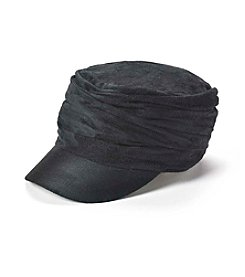 Relativity® Suede Cadet With Ruching Hat