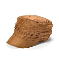 Relativity® Faux Suede Cadet With Ruching Hat
