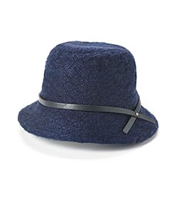 Relativity® Yarn Bucket Hat With Leather Accent