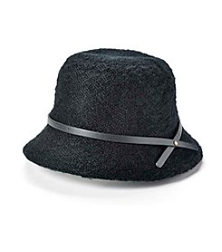 Relativity® Yarn Bucket Hat With Faux Leather trim