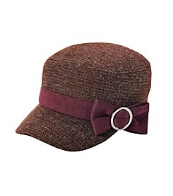 Relativity® Yarn Texture Cadet Hat With Bow