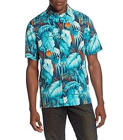 Paradise Collection® Men's Hidden Birds Button Down Silk Shirt