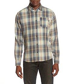 Ocean Current® Men's Headlamp Plaid Burnout Flannel Button Down Shirt