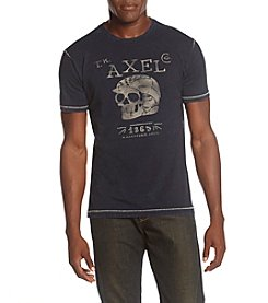 T.K. Axel MFG Co. Men's Skull Helmet Crew Neck Tee