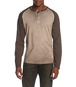 T.K. Axel MFG Co. Men's Long Sleeve Baseball Henley