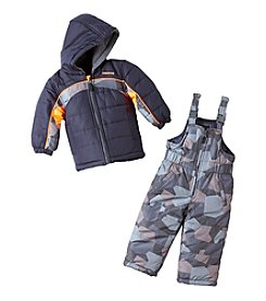 London Fog® Baby Boys' 2-Piece Colorblock Snow Suit