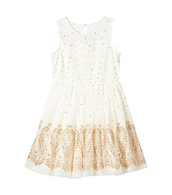 Sequin Hearts® Girls' 7-16 Glitter Fit and Flare Illusion Dress