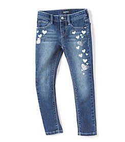 Squeeze® Girls' 4-6X Foil Hearts Boot Cut Jeans