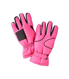 Miss Attitude Girls' Ski Gloves with Piping
