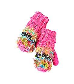 Miss Attitude Girls' 4-16 Popcorn Knit Mittens