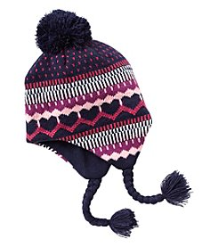 Miss Attitude Girls' 4-16 Fair Isle Tassle Hat