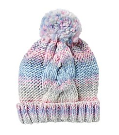 Miss Attitude Girls' 4-16 Spacedye Hat with Pom