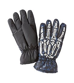 Statements Boys' 4-18 Skeleton Hand Ski Gloves
