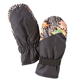Statements Boys' 4-18 Fall Leaves Camo Ski Mittens
