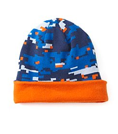 Statements Boys' 4-18 Digi Camo  Reversible Beanie