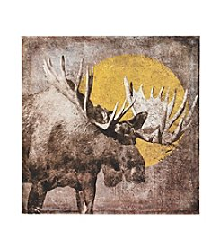Ruff Hewn Lone Moose Canvas