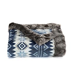 Cuddl Duds® Print Faux Fur Throw