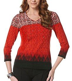 Rafaella® Petites' Embellished Knit Top