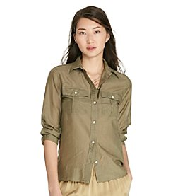 Lauren Ralph Lauren® Petites' Cotton-Silk Voile Shirt