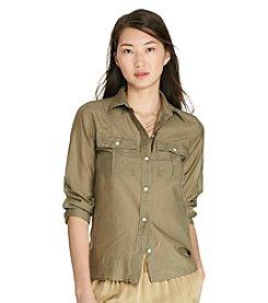 Lauren Ralph Lauren® Petites' Cotton-Silk Voile Shirt