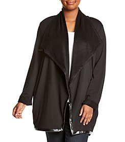 Chelsea & Theodore® Plus Size Asymmetrical Wrap Cardigan