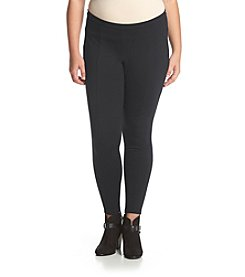 Chelsea & Theodore® Plus Size Seam Detailed Ponte Pants