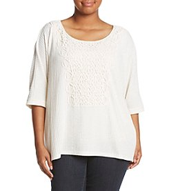Democracy Plus Size Top With Embroidery Detailing