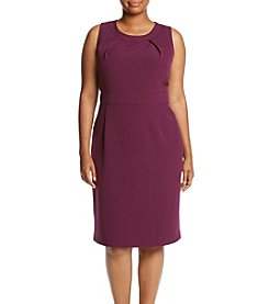 Kasper® Plus Size Solid Stretch Crepe Sheath Dress