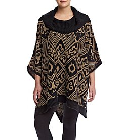 Rafaella ® Plus Size Cowl Neck Poncho Sweater