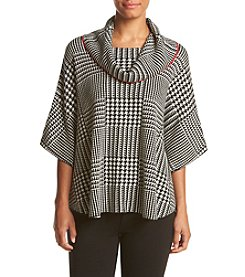 Fever™ Houndstooth Cowl Poncho