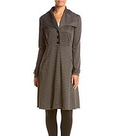 Fever™ Houndstooth Single Breasted Coat