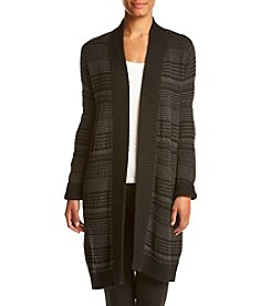 Eight Eight Eight Long Jacquard Cardigan