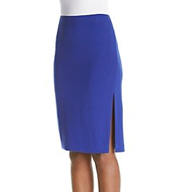 Chelsea & Theodore® Solid Skirt With Slit Sides