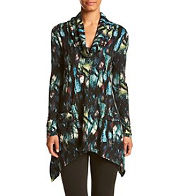 Chelsea & Theodore® Printed Cowlneck Tunic