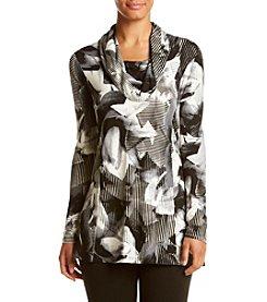 Cupio ®  Printed Cowlneck Tunic