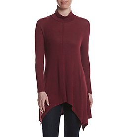Cupio Solid Ruching Turtleneck