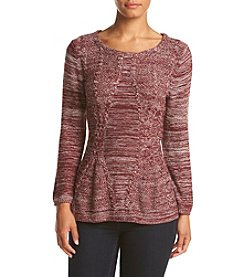Cupio Marled Peplum Sweater