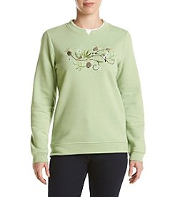 Breckenridge® Crew Neck Embellished Fleece