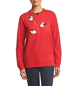 Breckenridge® Winter Fun Snowman Embellished Fleece