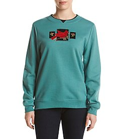 Breckenridge® Elegance In Red Embellished Fleece