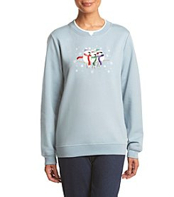 Breckenridge® Winter Huddle Chickadees Embellished Fleece