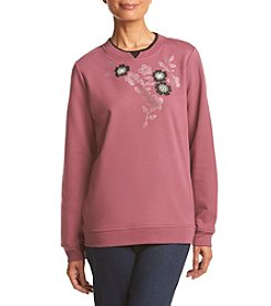 Breckenridge® Dark Dazzling Embellished Fleece