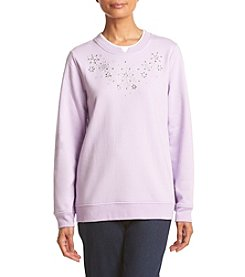 Breckenridge® Crystal Flakes Embellished Fleece